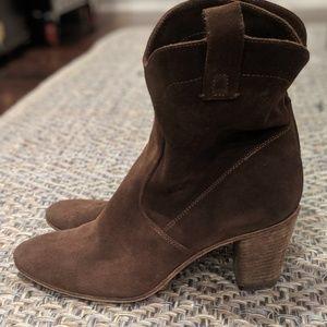 Alberto Fermani Chiara Suede Ankle Boots Brown 8.5